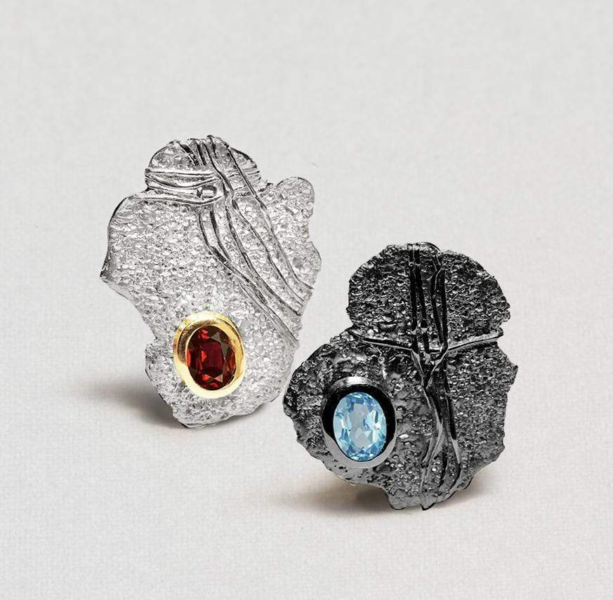 Chelle Earrings, Garnet, Gold, gray, Rhodium, Serial, silver, spo-disabled, StoneColor:Blue, StoneColor:Red, Topaz Earrings