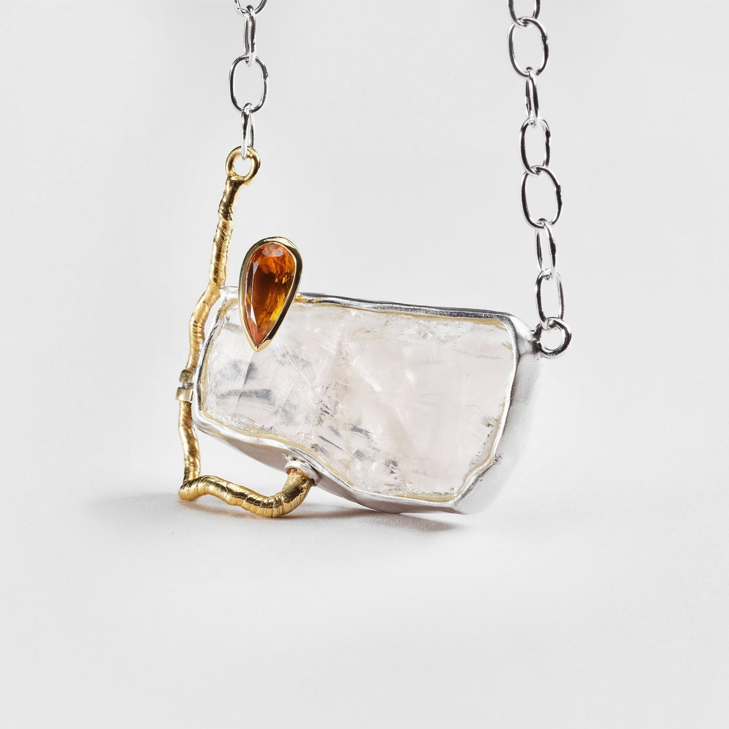 Nola Quartz and Citrine Necklace