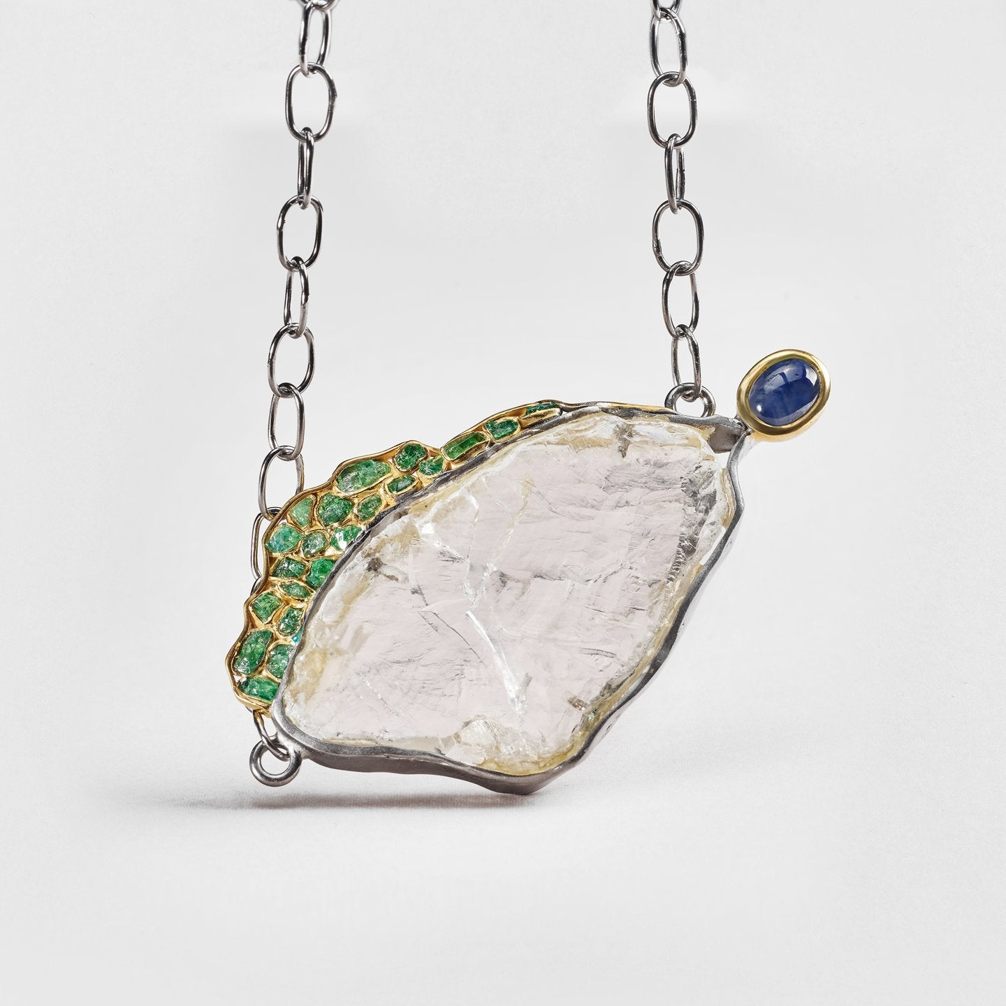 Austa Quartz and Tsavorite Necklace