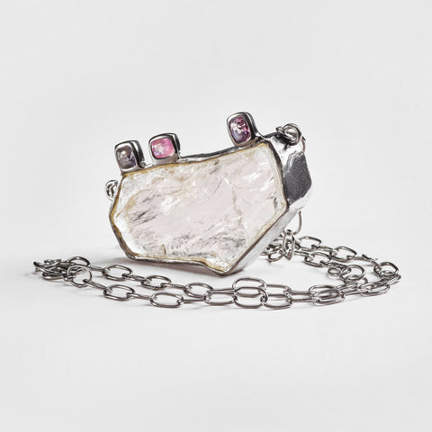 Kylin Quartz and Spinel Necklace