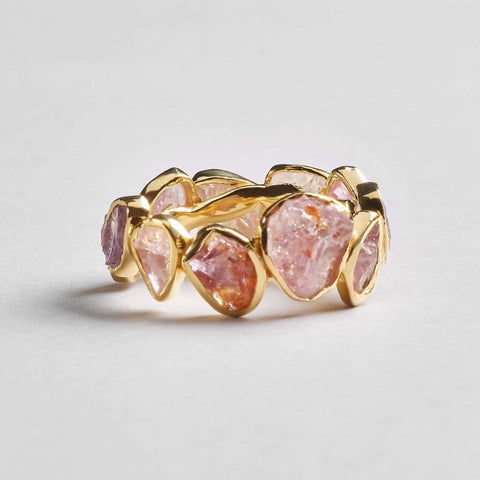 Livia Pure Ring, Gold, Handmade, Spinel, spo-disabled, StoneColor:PastelColor, Style:Delicate, Type:StoneCandyDelicate Ring