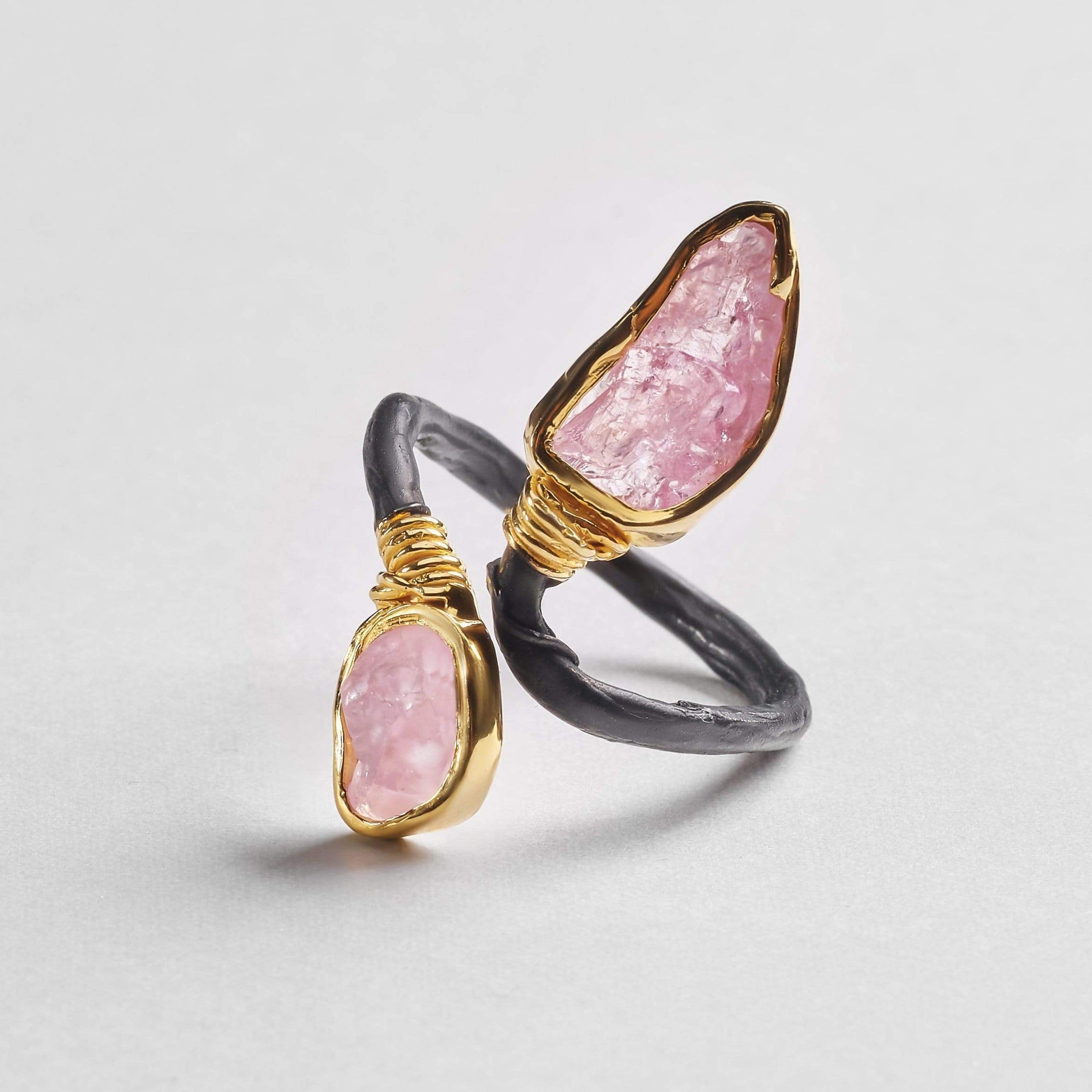 Airlia Pure Ring, Anthracite, black, Gold, Handmade, Spinel, spo-disabled, StoneColor:PastelColor, StoneColor:Pink, Style:Delicate, Type:BlackAnthracite, Type:StoneCandyDelicate, Type:StoneCandyOut Ring