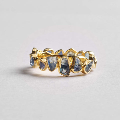 Livia Blue Ring, Gold, Handmade, Sapphire, spo-disabled, StoneColor:DeepBlue, Style:Delicate, Type:StoneCandyDelicate Ring