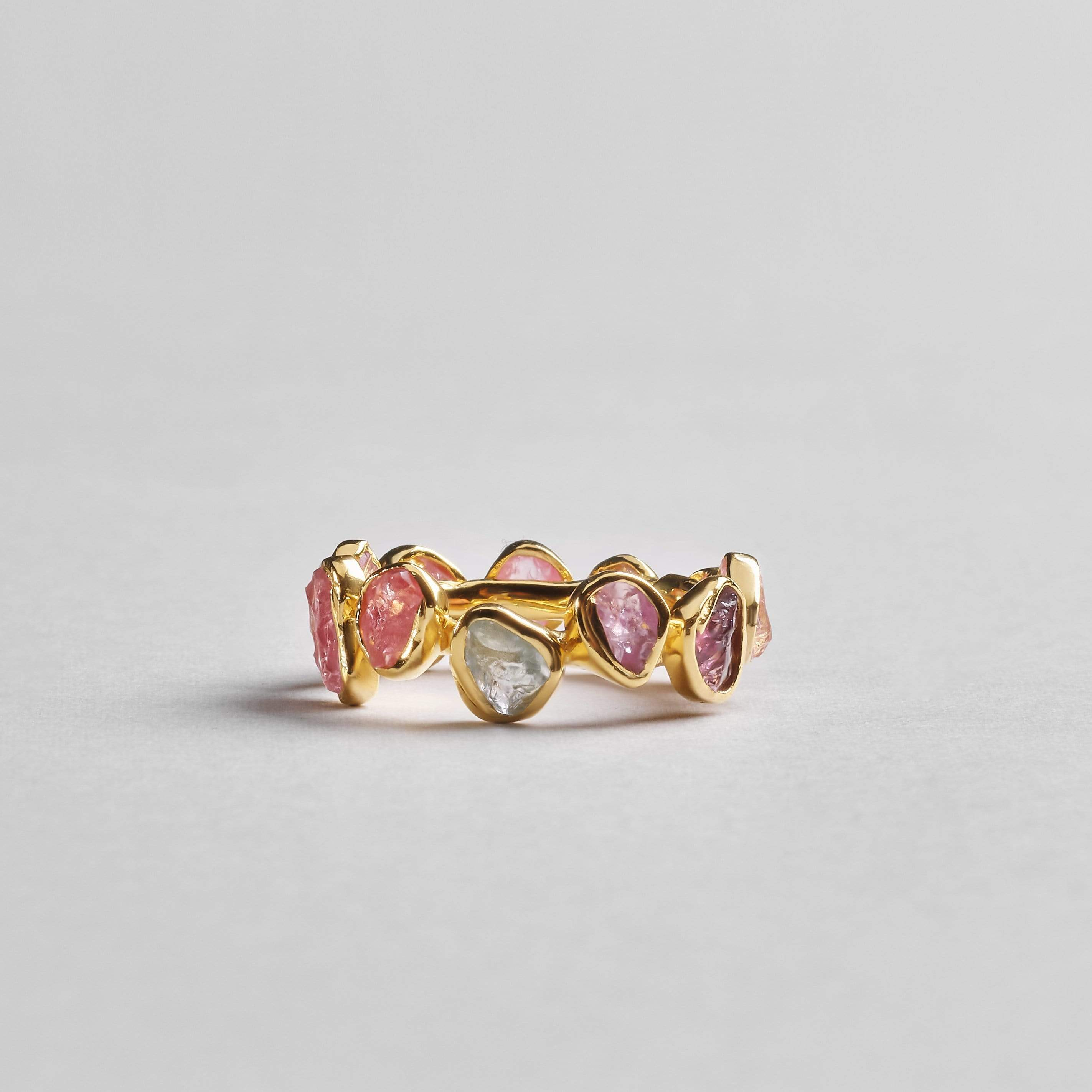Livia Fancy Ring, Gold, Handmade, Sapphire, spo-disabled, StoneColor:PastelColor, Style:Delicate, Type:StoneCandyDelicate Ring