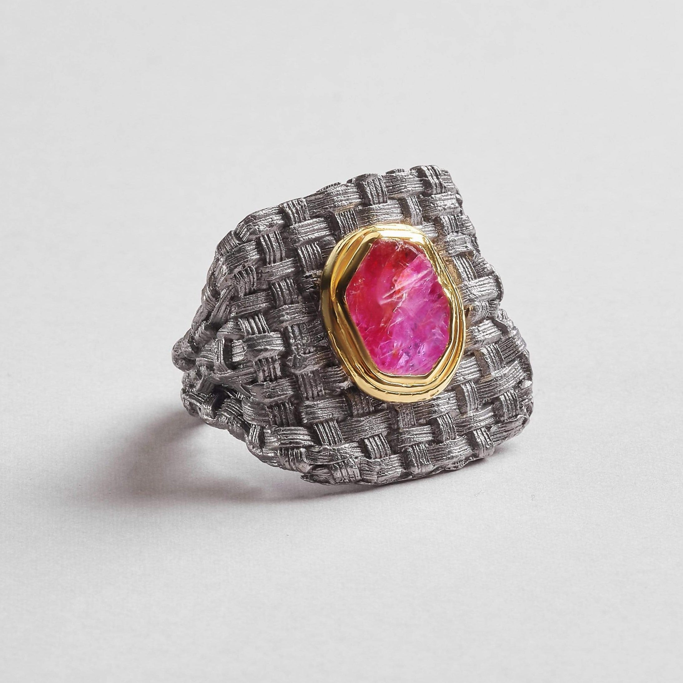Danu Slice Ruby Ring