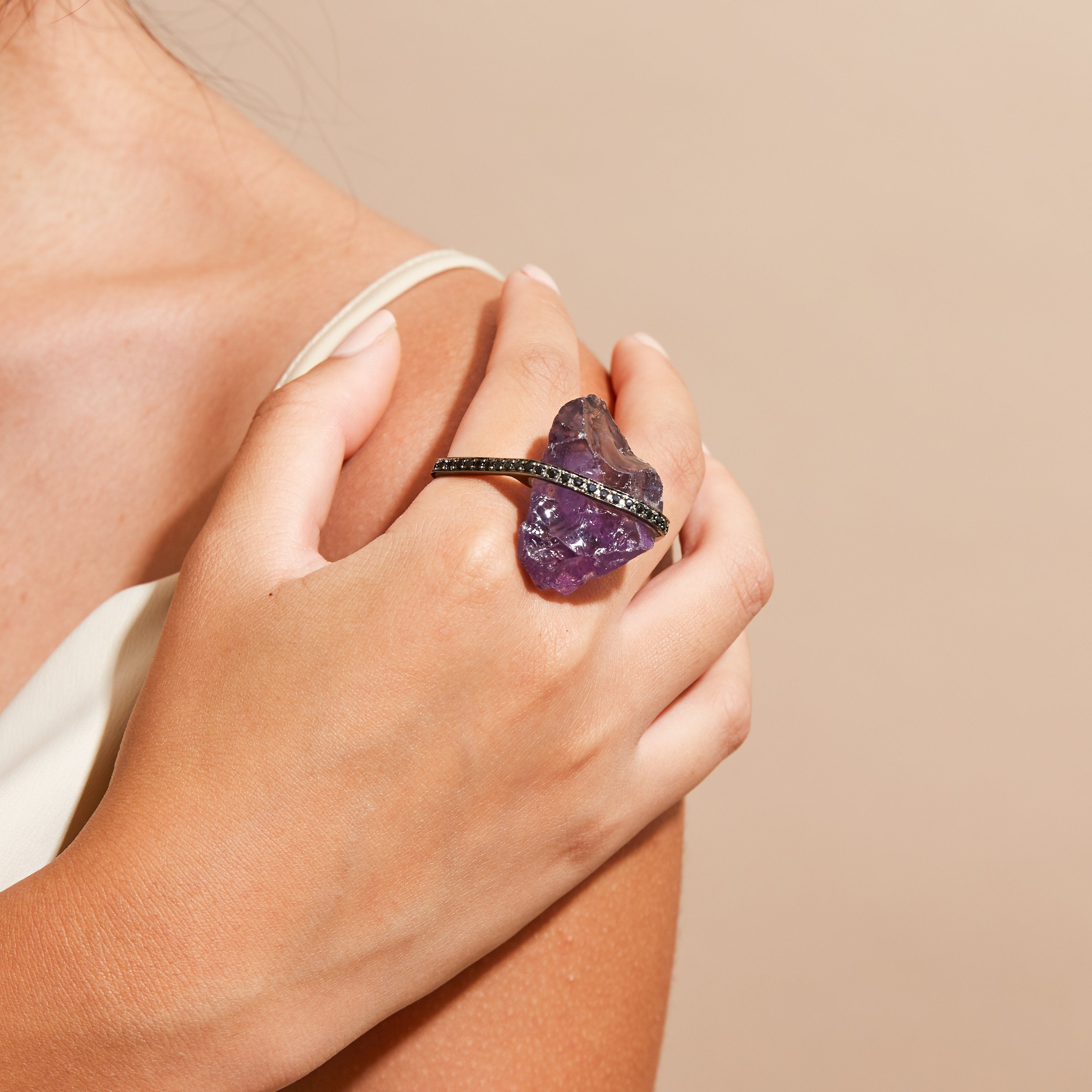 Hagen Amethyst and Spinel Ring