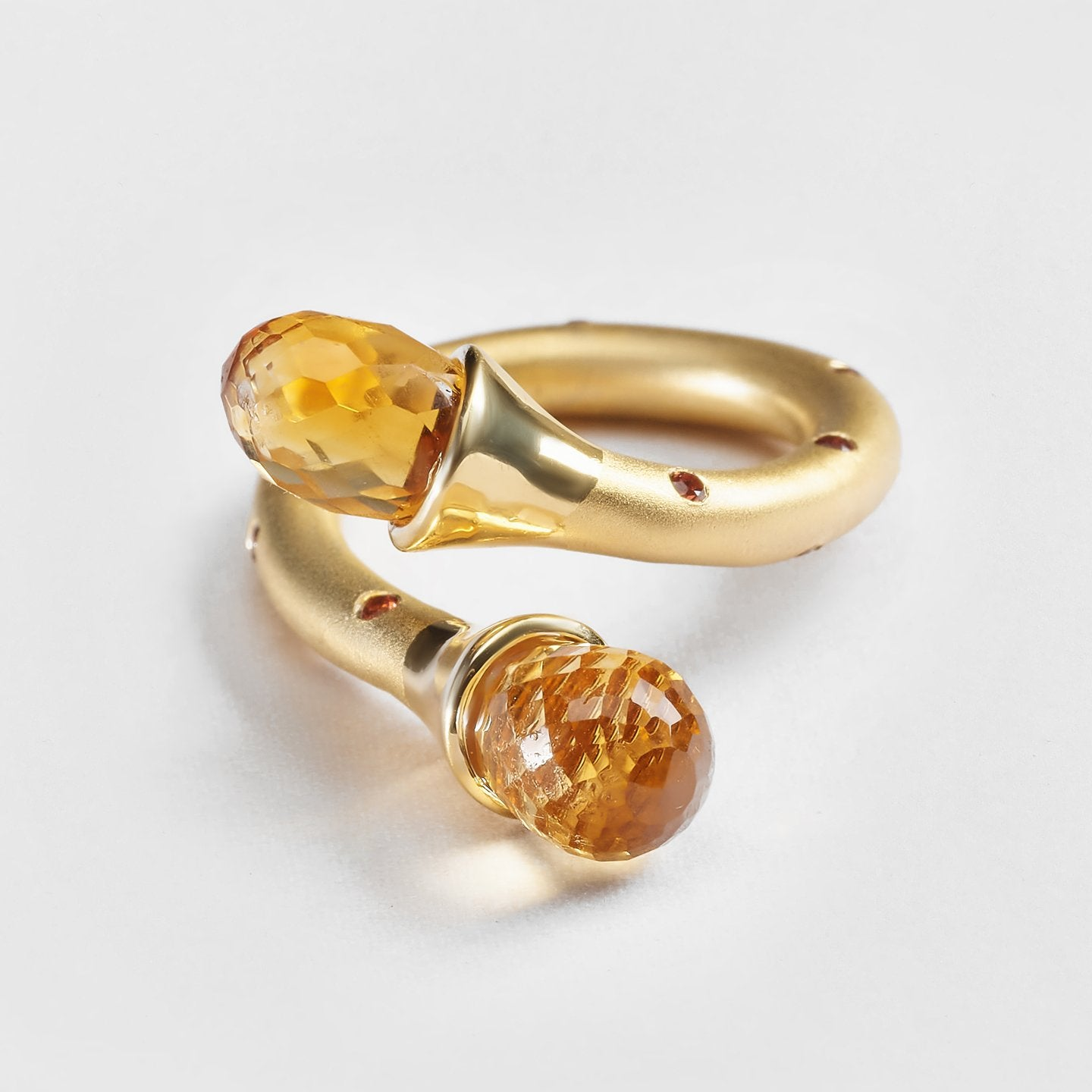 Idalia Citrine and Spinel Ring