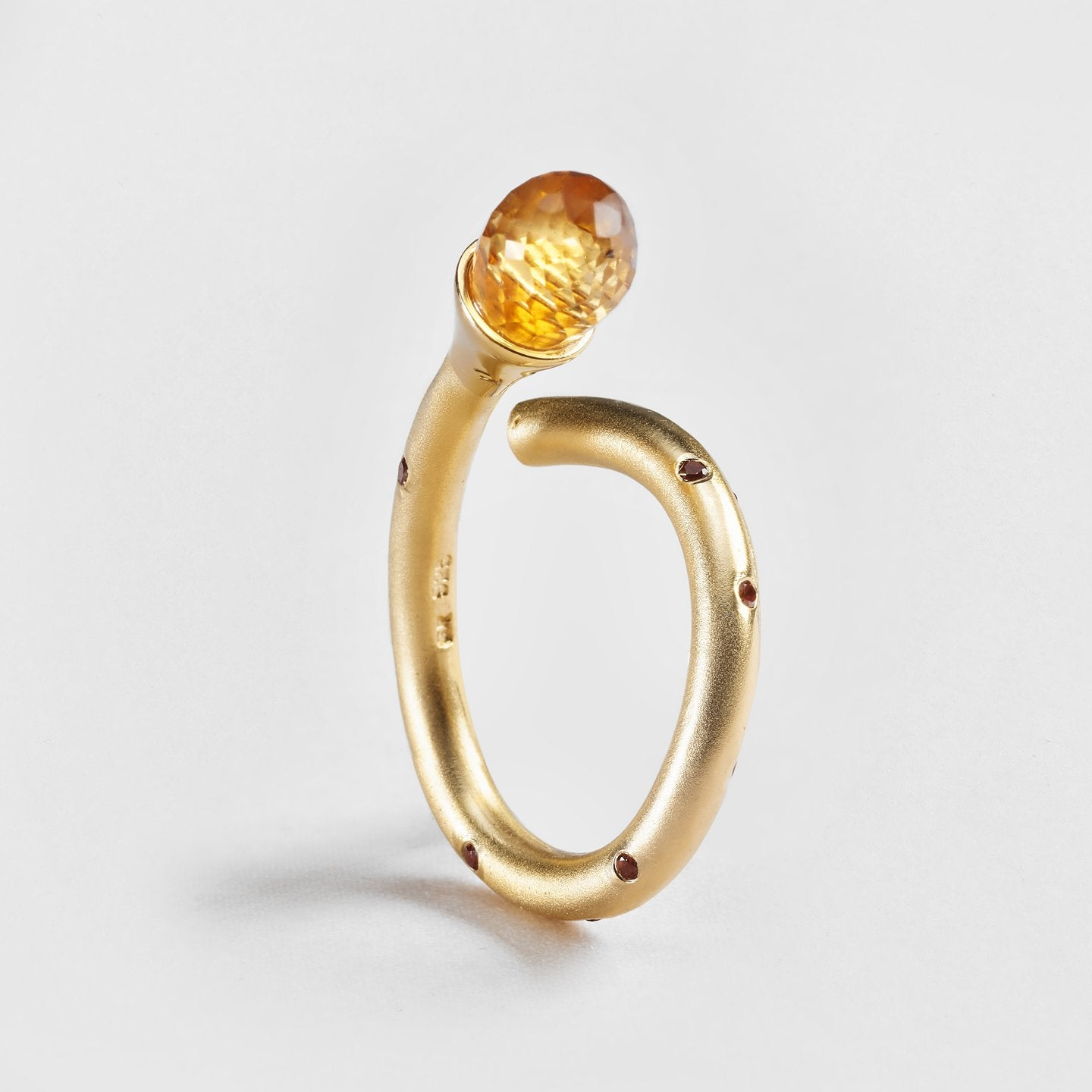 Ellyn Citrine and Sapphire Ring
