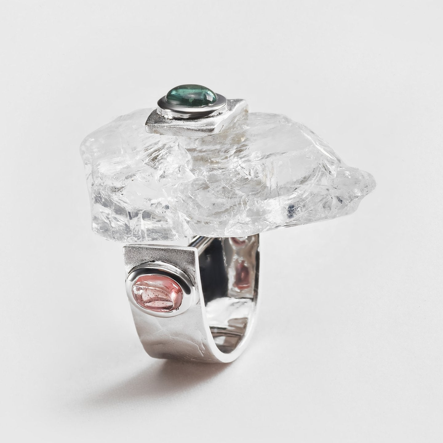 Luana Quartz and Tourmaline Ring