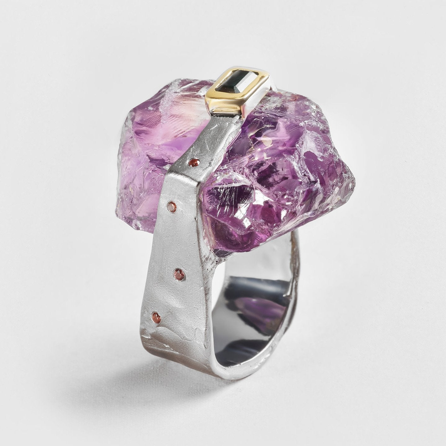 Aia Amethyst and Tourmaline Ring