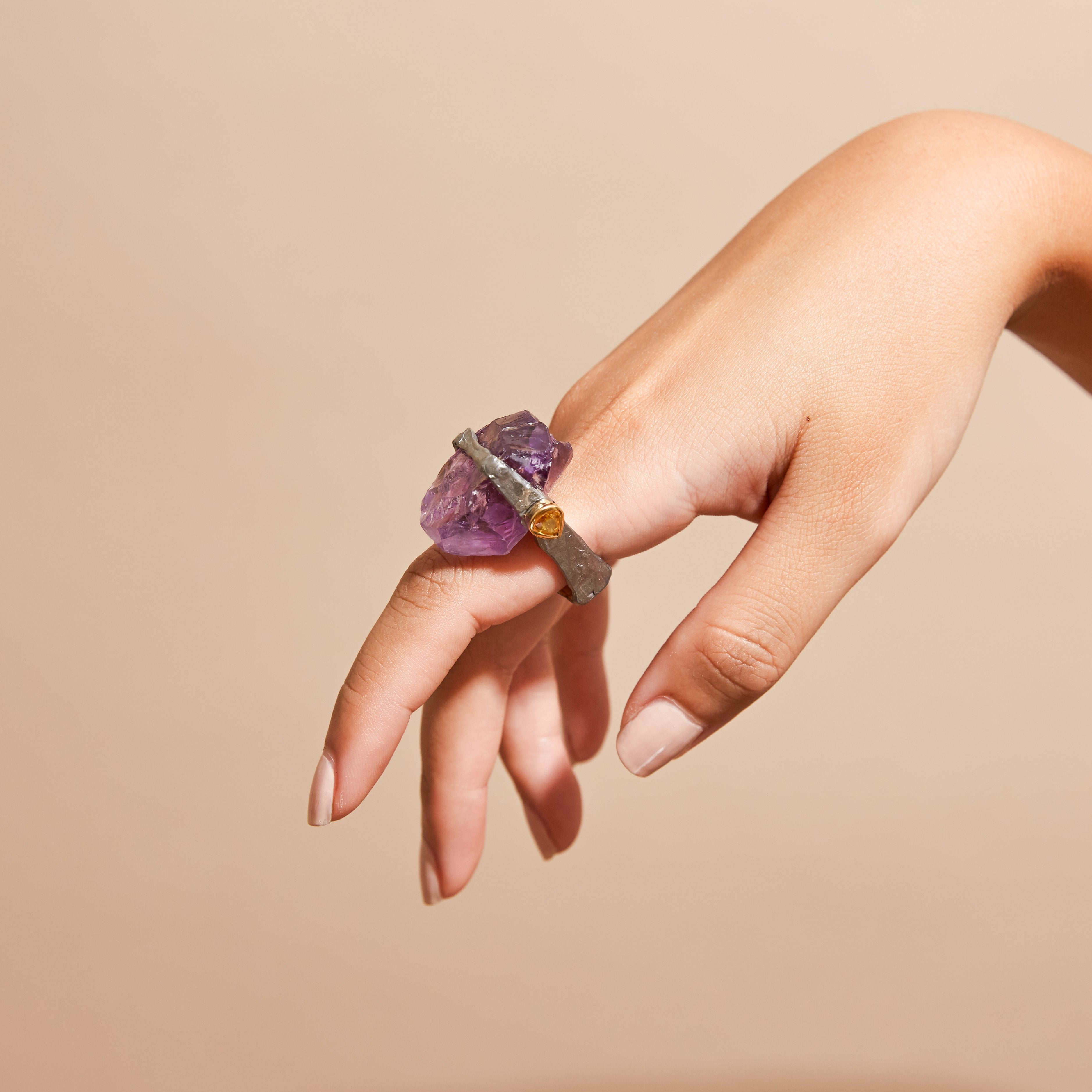 Elune Amethyst and Sapphire Ring