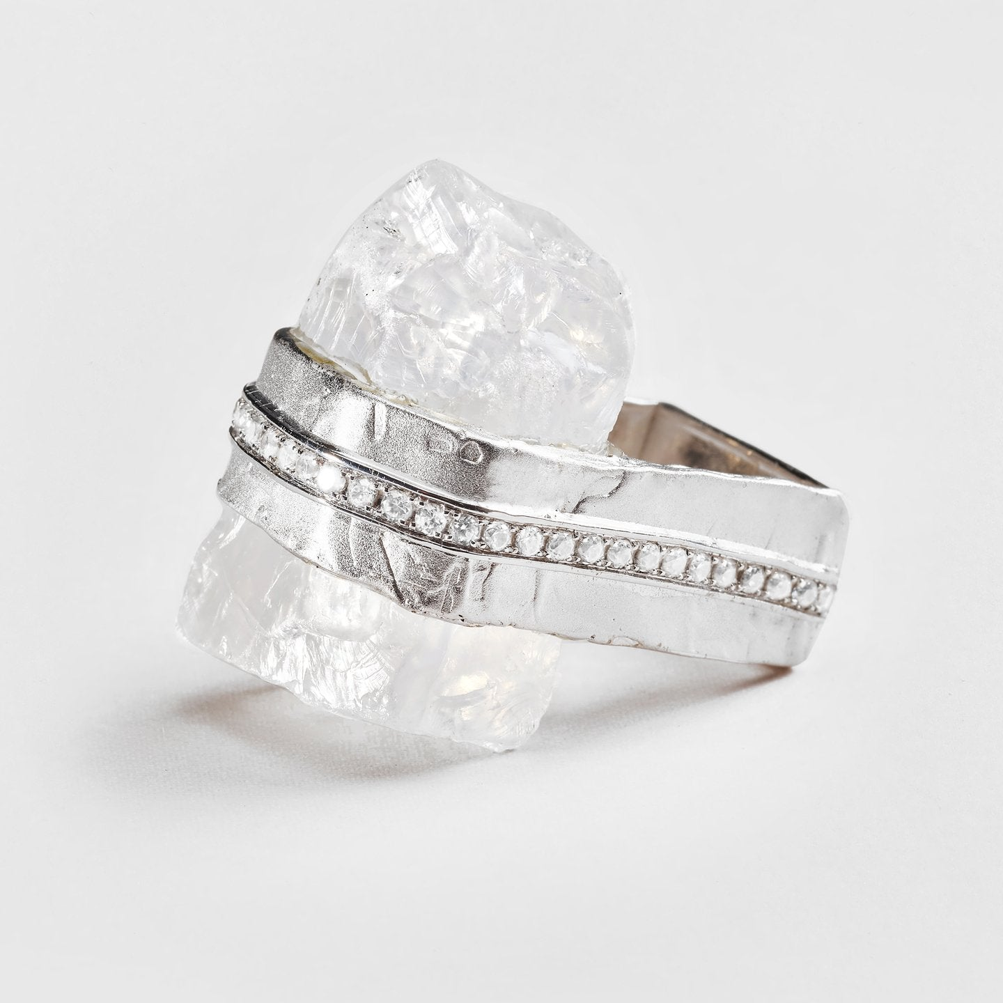 Oswin Quartz and Zircon Ring