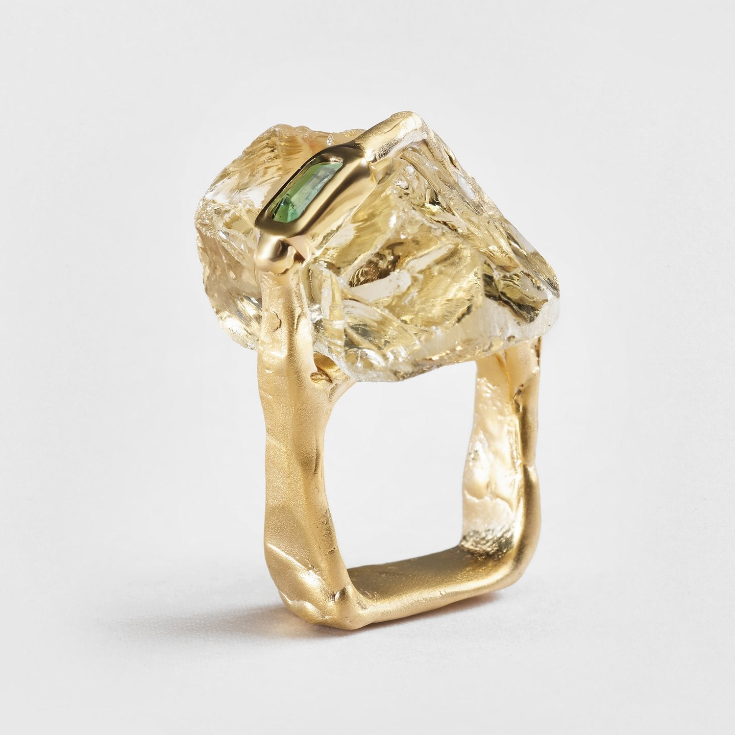 Anys Citrine and Tourmaline Ring