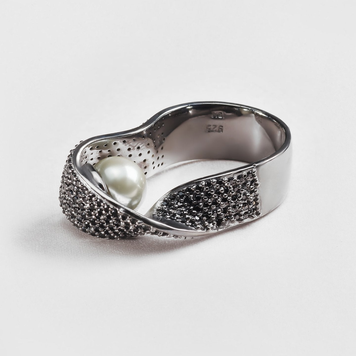 Orpha Pearl and Spinel Ring