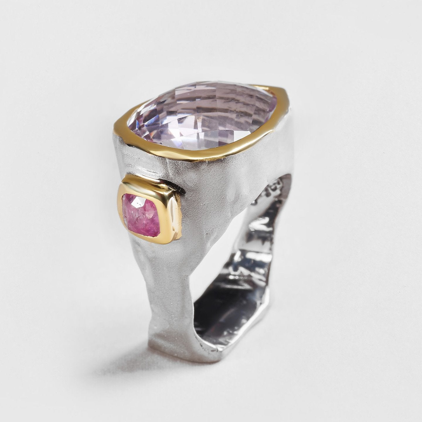 Leela Amethyst and Spinel Ring