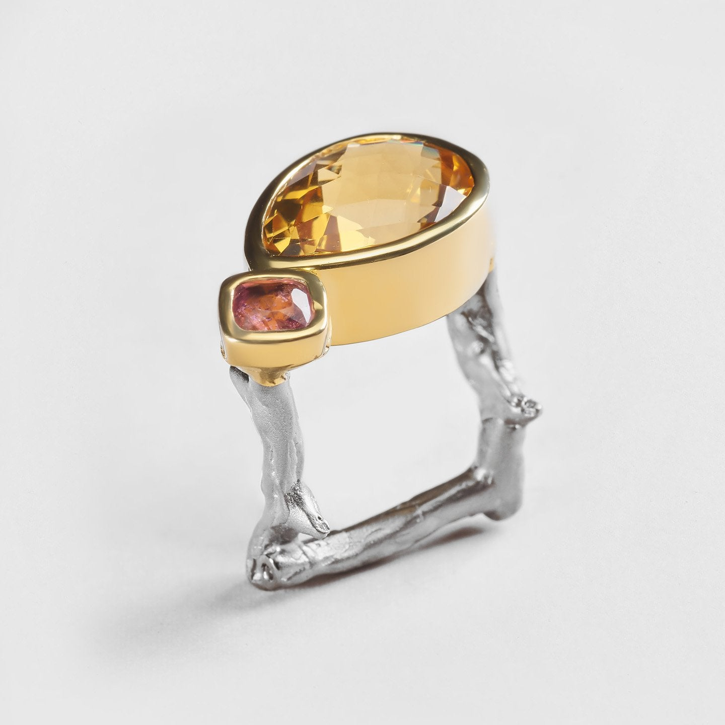 Jaya Citrine and Spinel Ring