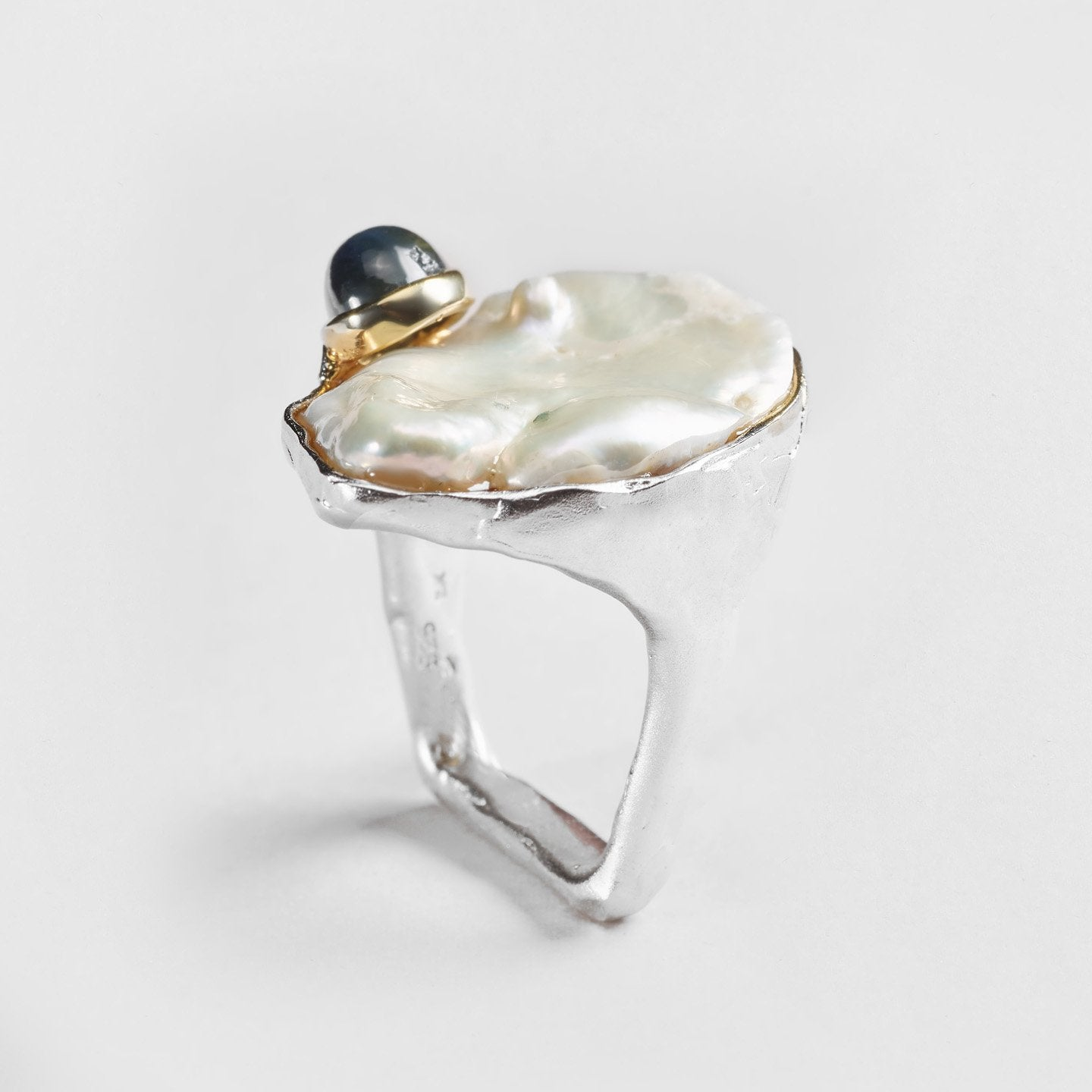 Narma Pearl and Sapphire Ring
