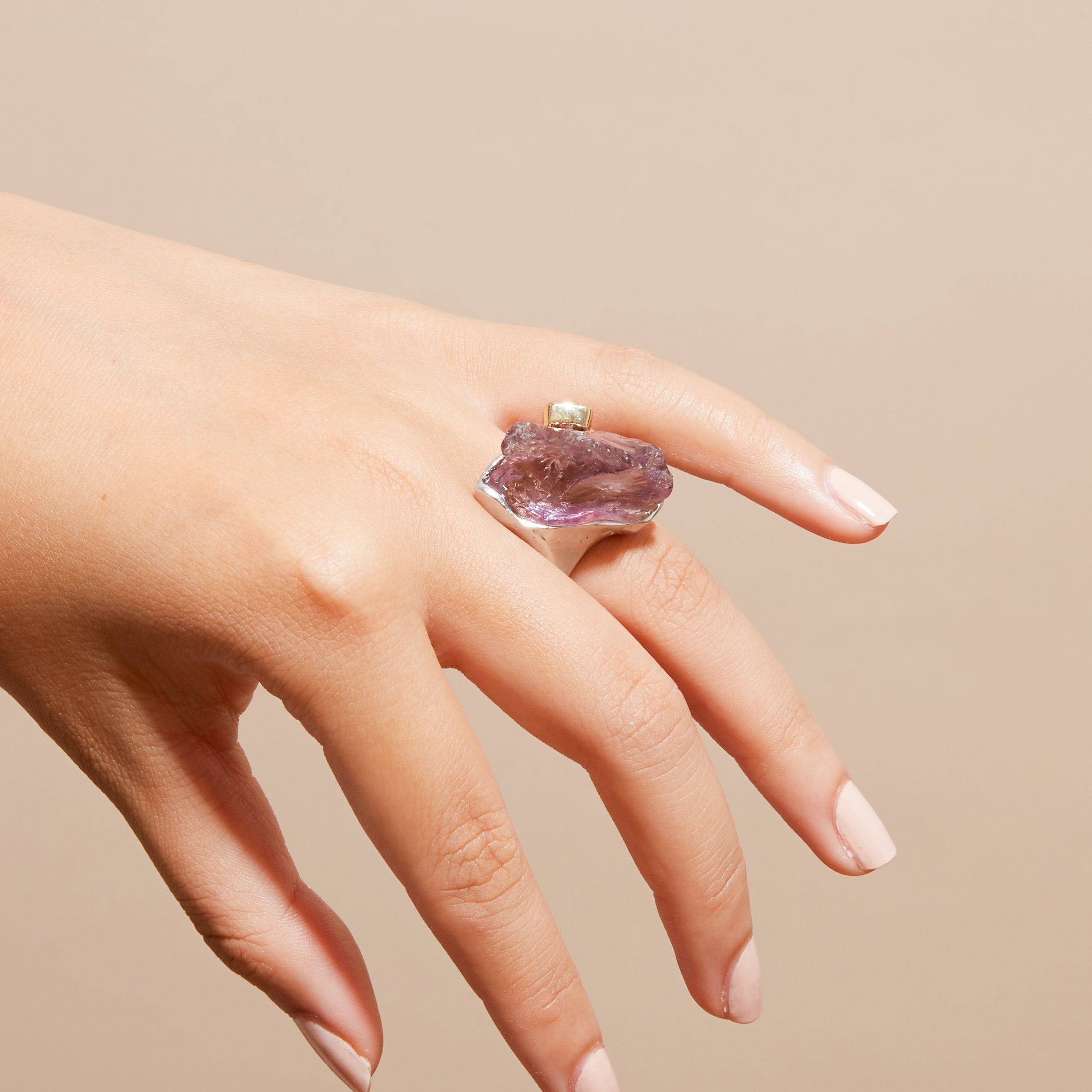 Hani Amethyst and Spinel Ring