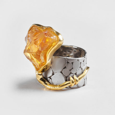 Aella Citrine Ring