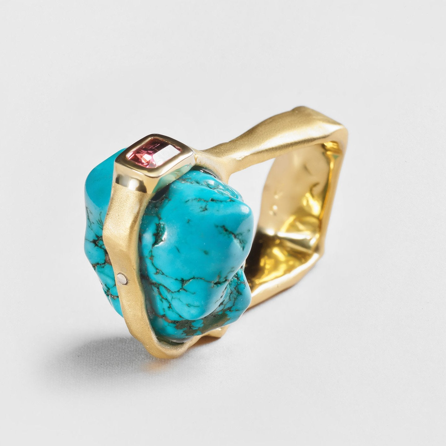 Odil Turquoise and Tourmaline Ring