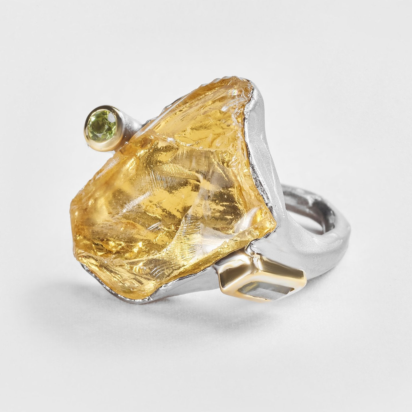 Aevil Citrine and Tourmaline Ring