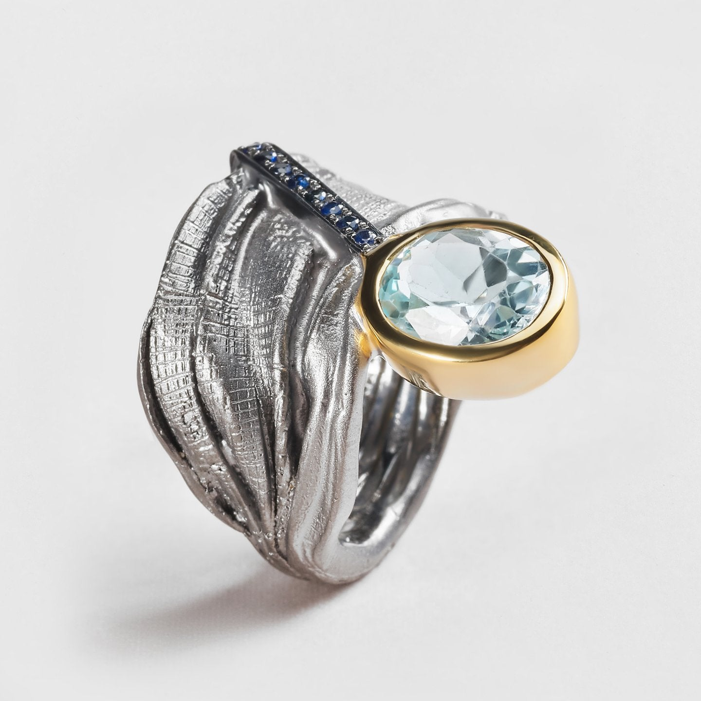 Orian Topaz and Sapphire Ring