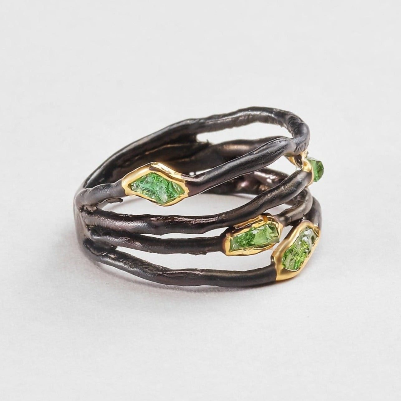 Honbria Chrome Diopside Ring