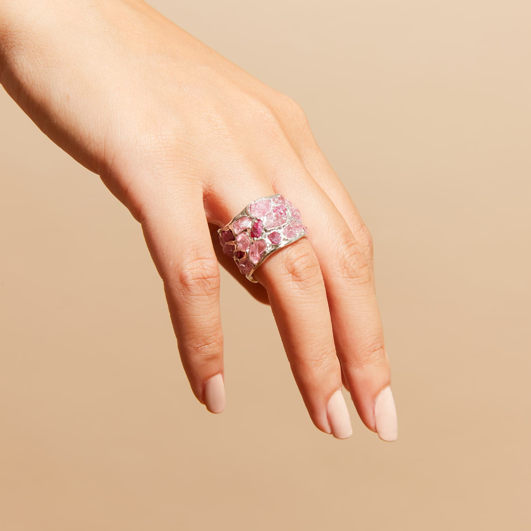 Alcina Ruby Pink Sapphire Silver Ring