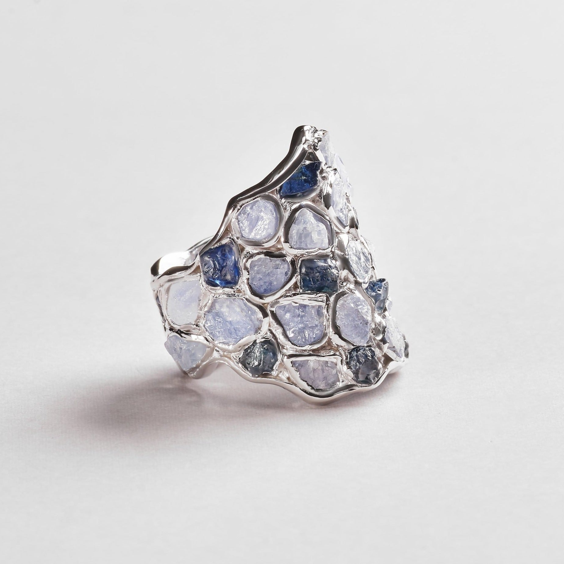 Nerissa Light and Dark Sapphire Ring