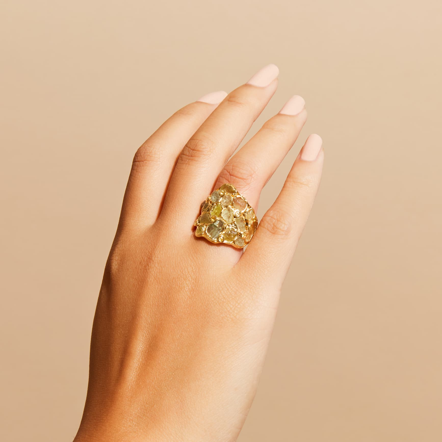 Tiara Chrysoberyl and Yellow Sapphire Ring