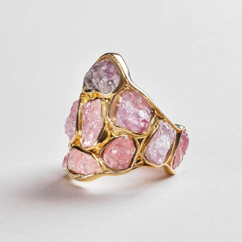 Tiara Spinel Pink Ring