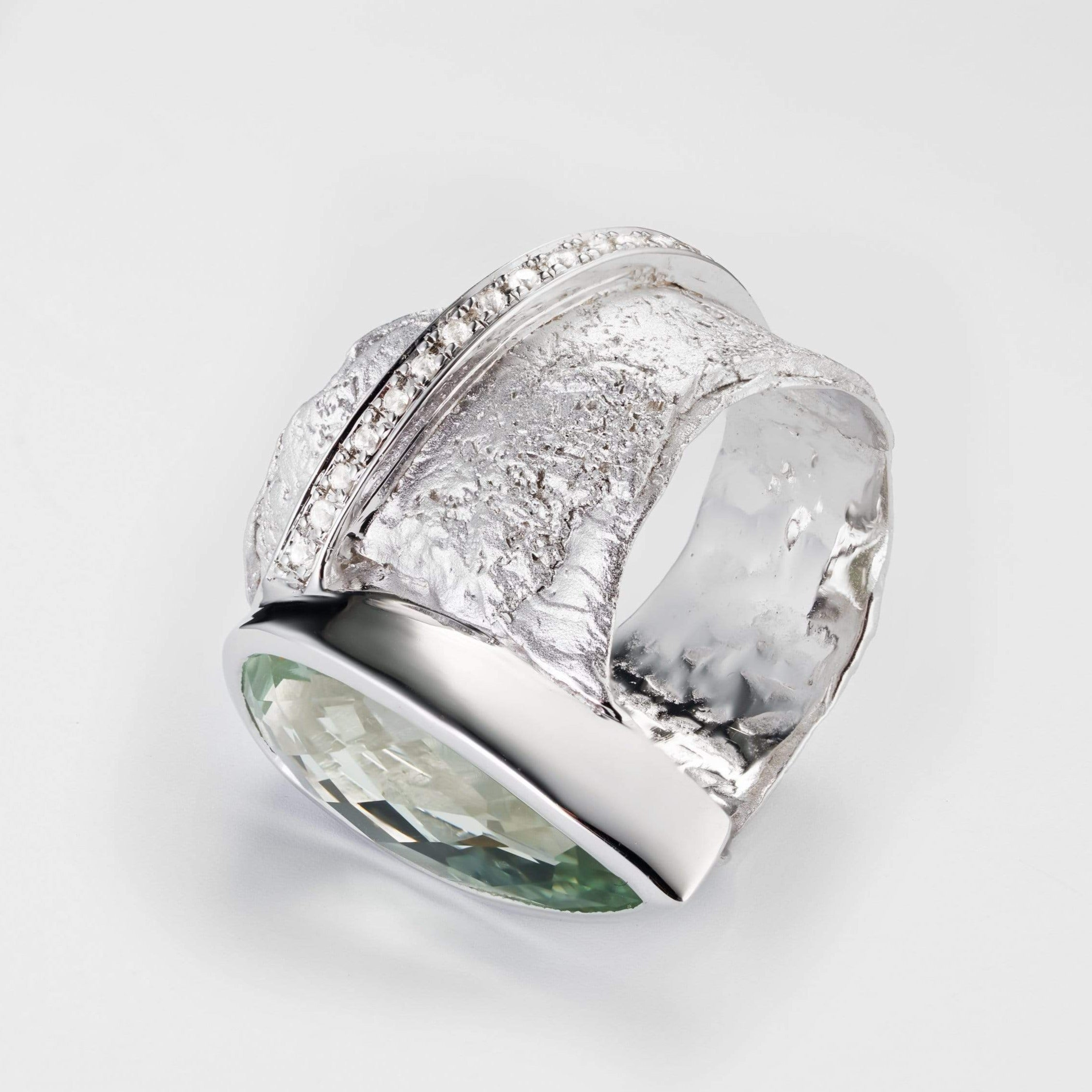 Aradil Green Amethyst Ring