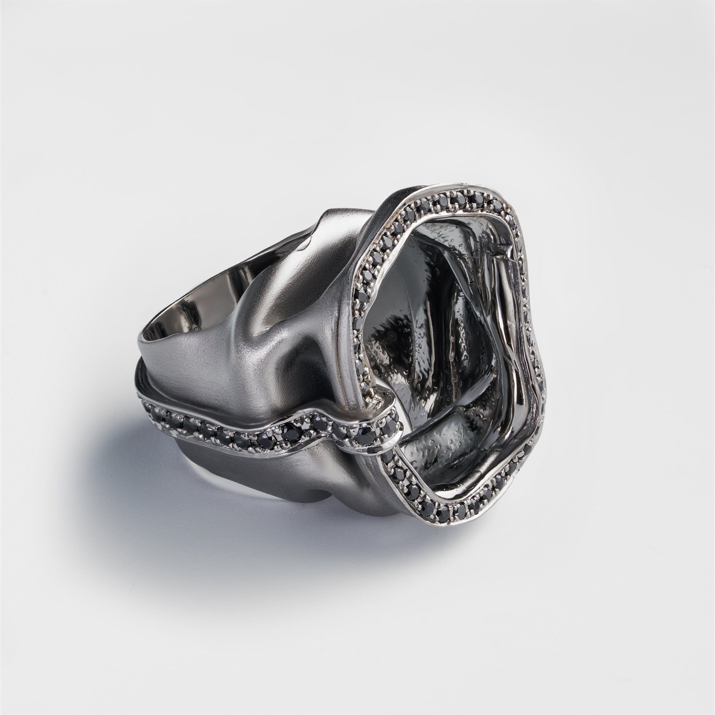 Haliss Black Spinel Ring