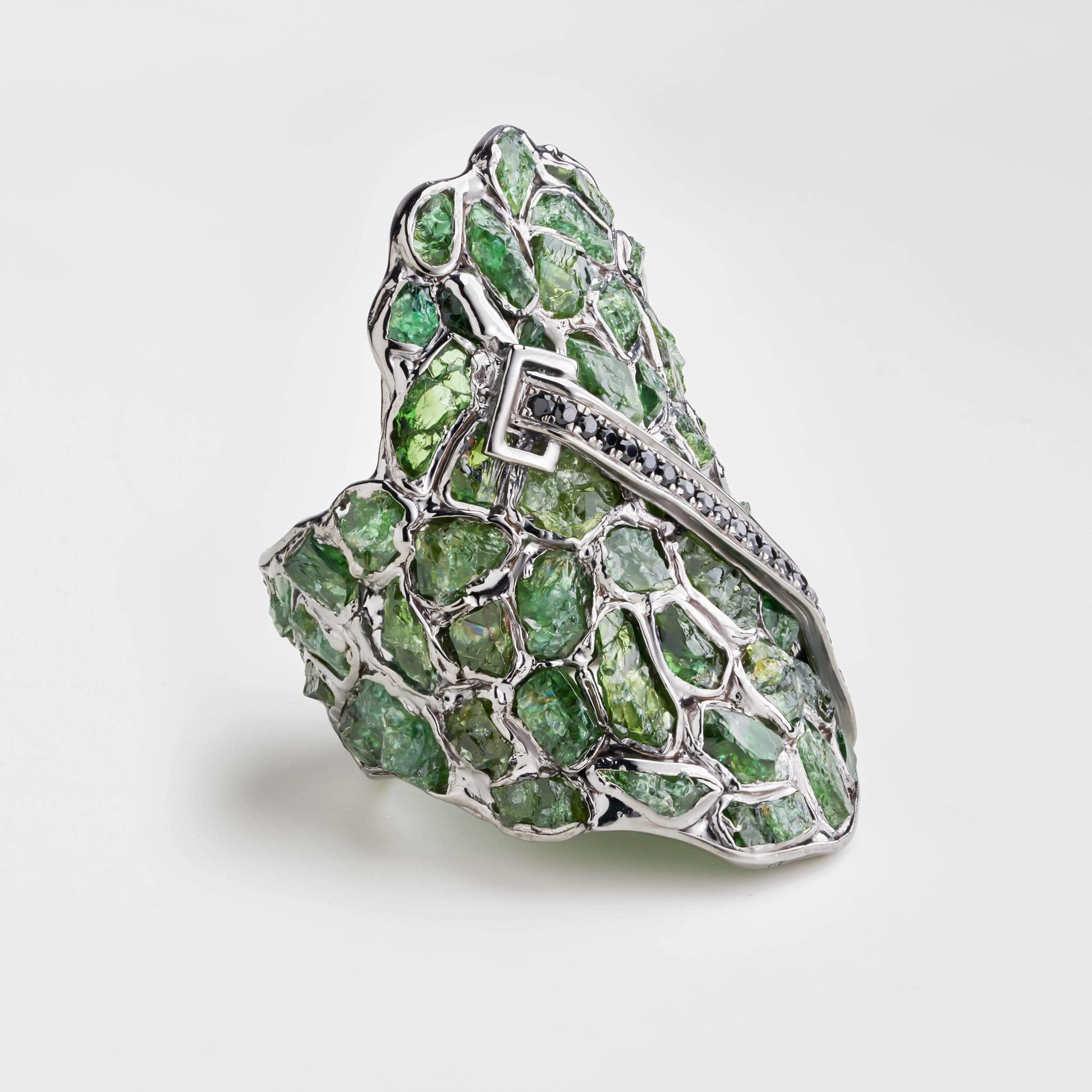 Aldrine Chrome Diopside Ring
