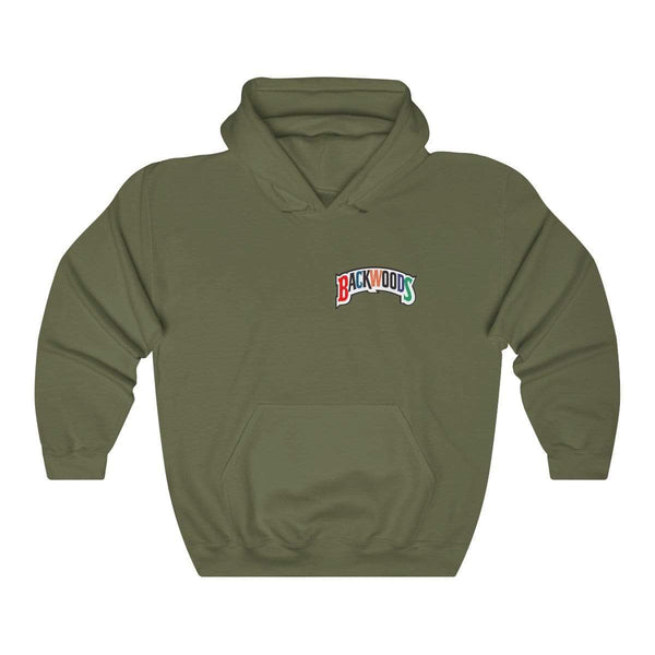 Backwoods Premium Hoodie Multi Colored Logo Breast Plate - The New Urban Thrifters