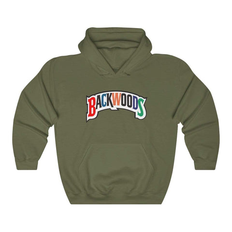 Backwoods Premium Hoodie Multi Colored Logo - The New Urban Thrifters