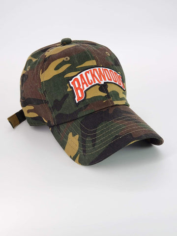 Embroidered Backwoods Camo Dad Hat - The New Urban Thrifters