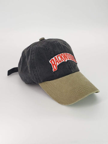 Embroidered Grey & Khaki Backwoods Dad Hat - The New Urban Thrifters