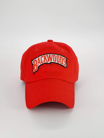 Embroidered Red Backwoods Dad Hat - The New Urban Thrifters