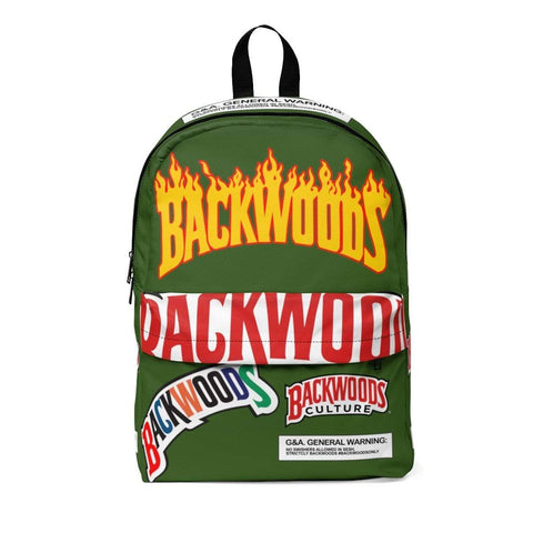 Military Green Flame Backwoods Backpack - The New Urban Thrifters