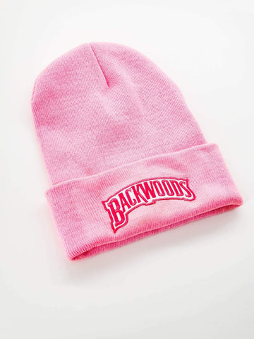 Pink Embroidered Backwoods Beanie - The New Urban Thrifters