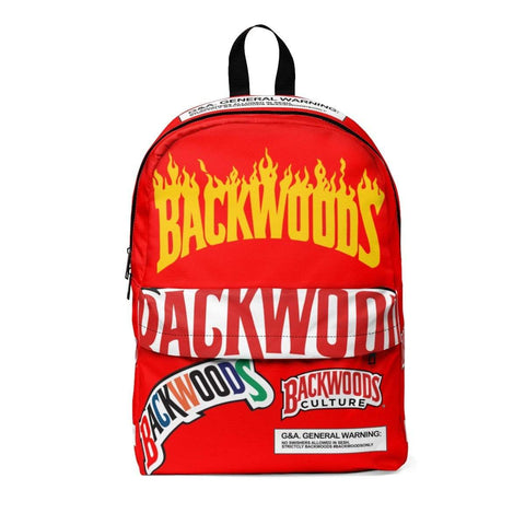 Red Flame Backwoods Backpack - The New Urban Thrifters