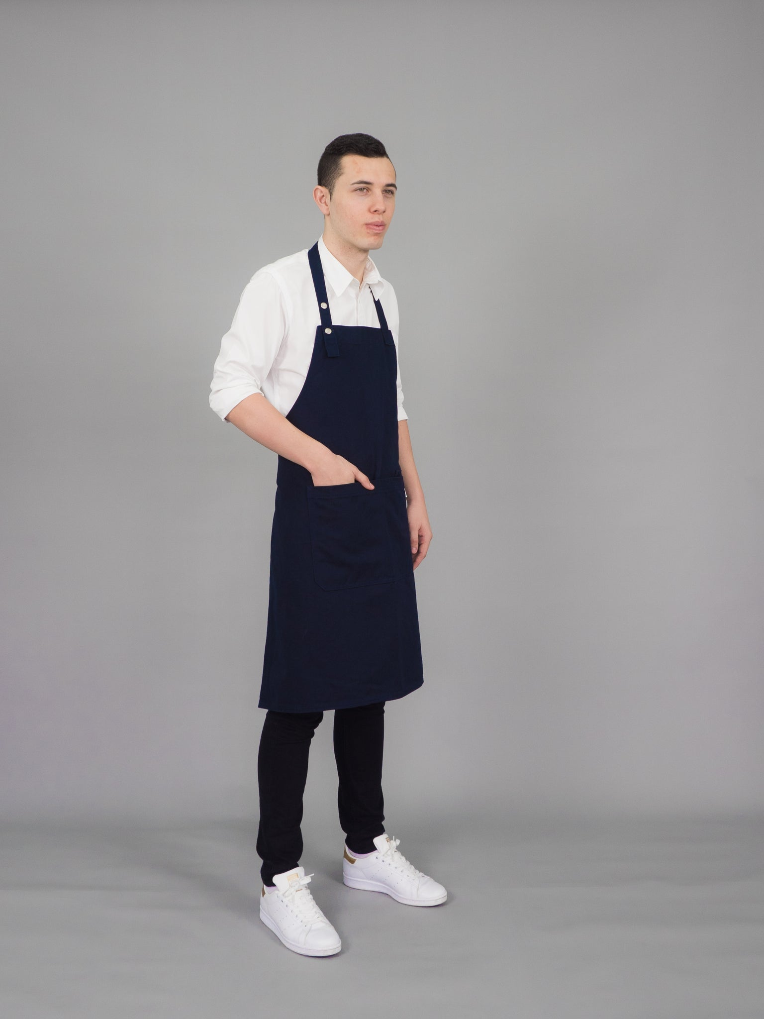 CLASSIC ONE APRON - (Navy Blue, น้ำเงิน)