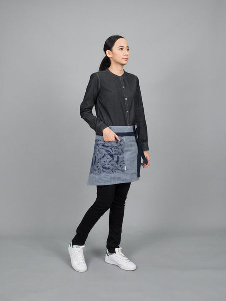 Mandarin Collar (Indigo Black, Long sleeve, แขนยาว)
