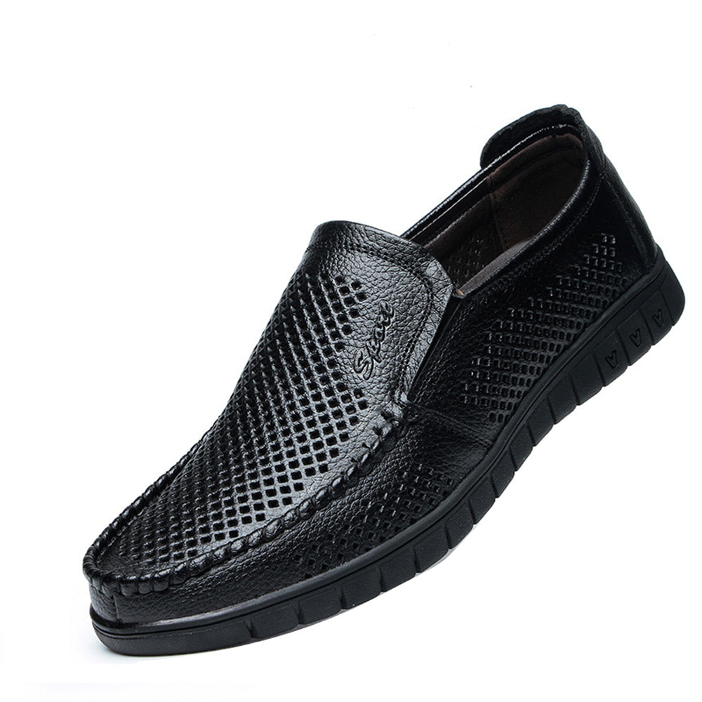Leather Casual Men Shoes  Slip On Loafers - District Imports