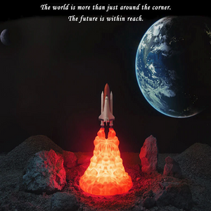 【50% OFF & FREE SHIPPING】3D Space Shuttle Night Lamp (Rechargeable)