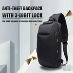 【Hot sale】Anti-theft Backpack With 3-Digit Lock