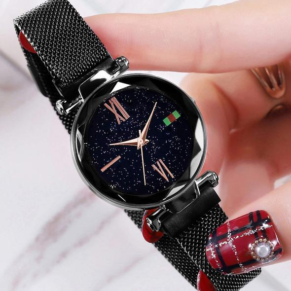Star-studded magnetic ladies watch【ONLY TODAY $13.97】