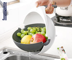 (BUY 2 FREE SHIPPING)NEW Multi-functional Balanced Vegetable Washer, Strainer