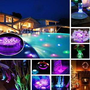 【Hot Sale】4 pcs Colorful Remote Control Decoration Lamps, 10-LED with Remote Control.37% off only today